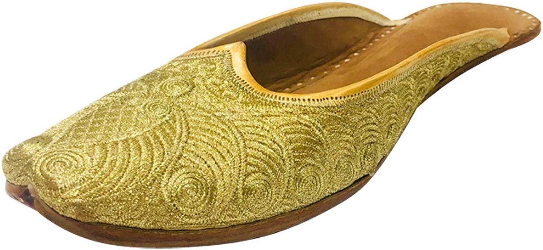 Step n Style Women's Back Open Phulkari Punjabi Jutti Khussa shoes Mojari