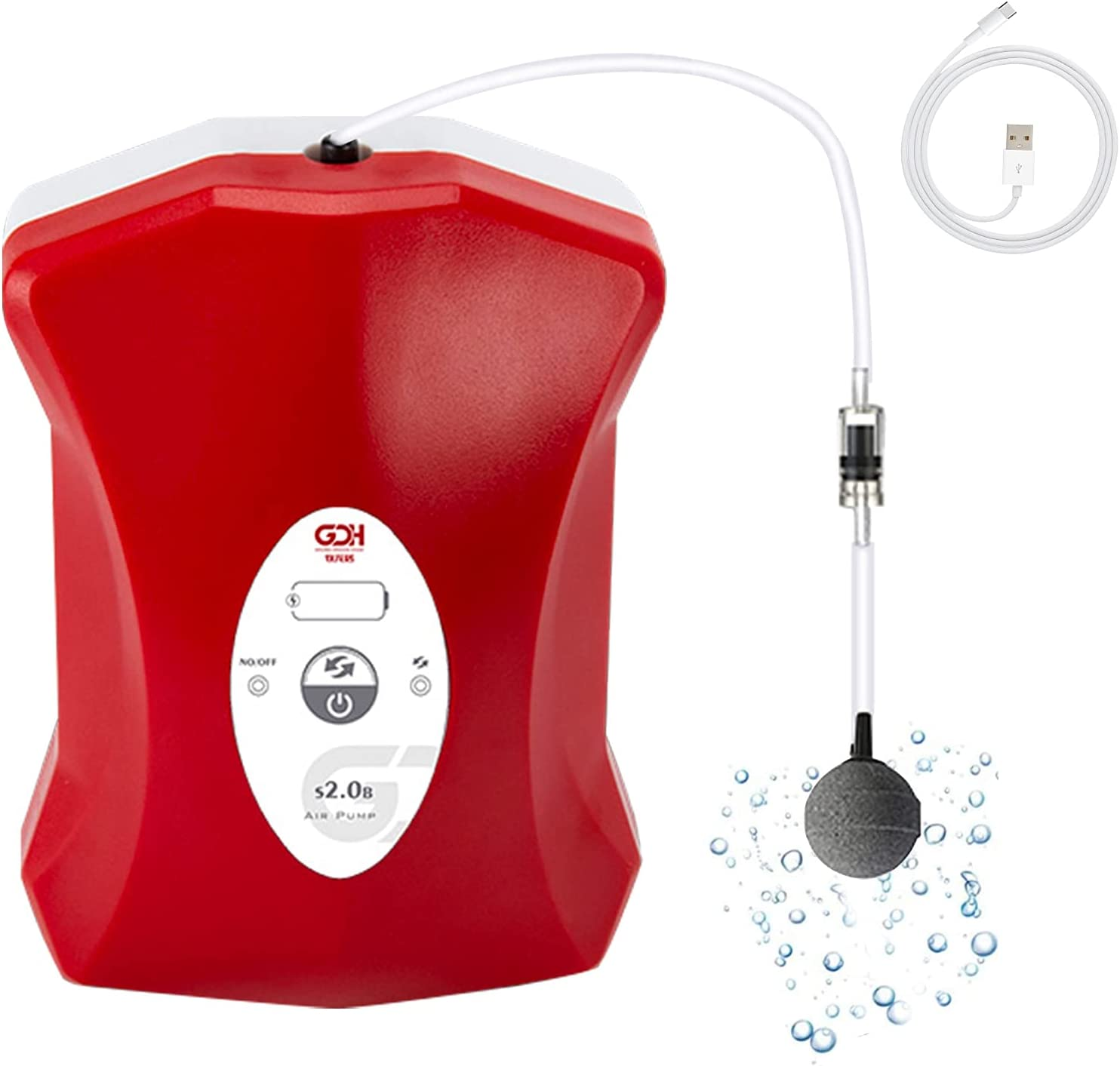 Kaiyopop Aquarium Air Pump Rechargeable Max 52% OFF Fish and Tank NEW Portable