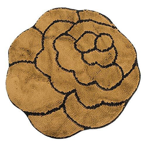 Severyn Tappeto a Forma di Fiore per la casa (Disponibile in 3 Colori) (100cm x 100cm) (Marrone)