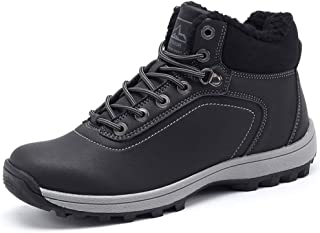 YIRUIYA Hommes Bottes Randonnée Bottines Trekking Marche Outdoor Chaussures Sécurité Cuir Antidérapante
