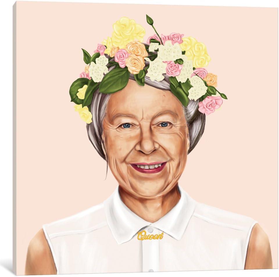 iCanvasART 評判 ASI6-1PC3-12x12 iCanvas 出色 Queen Amit Print Elizabeth by