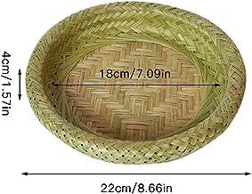 cypressen Geflochtener Korb Bambus Blumenkorb Br/ötchenkorb Aufbewahrungskorb Servierkorb Geflochtener Korb