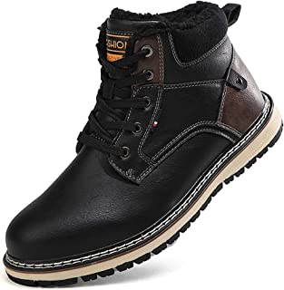 Firtsagy Bottes Homme Hiver Neige Imperméable Trekking Chaussures de Randonnée Confortable Chaudes 39-46EU