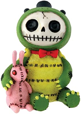 Furrybones Scooter Signature Skeleton in Speedy Tortoise Costume with Hare Buddy