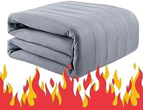 Electric Heated Blanket, Throw Bed Blanket Large Grey Queen Size Fleece Sofa Throws Warm Reversible Microfiber Solid Blank...