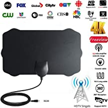 Ultra Thin Black, M 25 Miles Range Skywire HD TV Antenna 1080P VHF UHF for Free Local Channels Luiryare TV Antenna for Digital TV Indoor Strong Magic Stickers