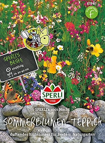 87840 Sperli Premium Blumenmischung Samen 1001 Nacht | Wildblumen Samen | Wildwiese Samen| Blumenwiese Samen | Blumenwiese Saatgut | Blumenwiese Mehrjährig
