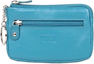 Zoomlite - Boston ZL104 Leather Zip Key Holder - Turquoise