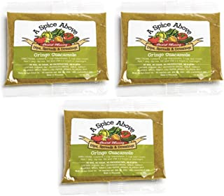 A Spice Above Dips, Spreads, and Dressing Mixed Seasonings Party Packets, 3 Pack (Gringo Guacamole)