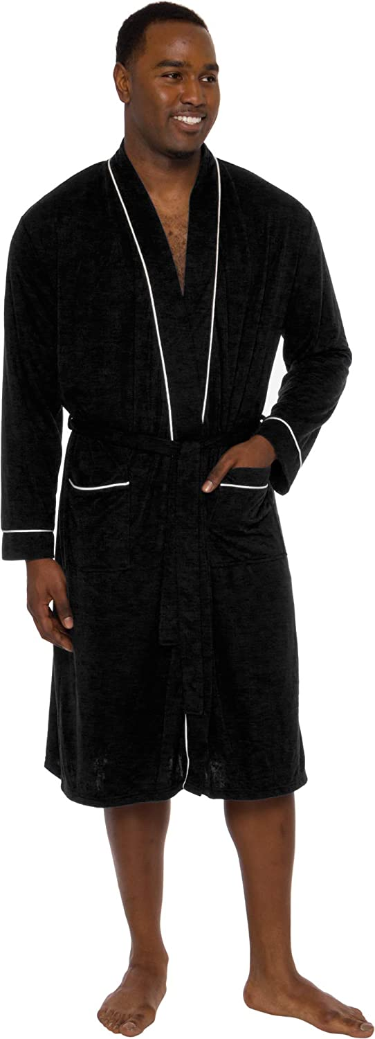 Ross Michaels Mens Popular shop is the lowest price challenge Robe Lightweight- Credence Length Mid Bathrob - Summer