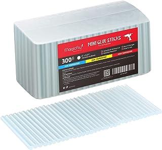 Magicfly Barras de Pegamento Termofusible 7 mm para Pistola de Silicona para Manualidades y Bricolaje 300 pcs, 101 x 6,8 mm