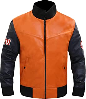 Leather Estate - Dragon Ball Z Goku 59 Orange Leather Jacket