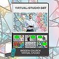 Modern Church Virtual Set - News Production Background Kit