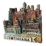 Toscana Italia Europa World Travel Resina 3D fuerte imán de nevera recuerdo turístico regalo chino imán hecho a mano artesanal creativo hogar y cocina decoración magnética (estilo 2)