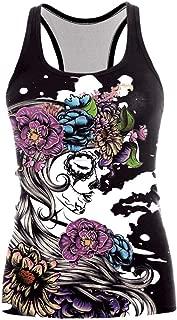 DEATU Halloween Womens Hot Sale! Ladies Teen Women Casual Print Halloween Sports Suit Sexy Fashion Sleeveless Tank Tops