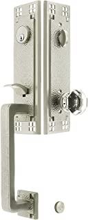 Arts & Crafts Style Tubular Handleset in Satin Nickel with Old Town Knobs and 2 3/8
