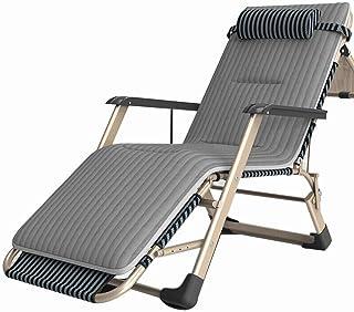 Caishuirong Lit Pliant Durable for Folding Bureau d'intérieur Balcon Patio Jardin extérieur Plage Lit Chaise TDU Déjeuner ...