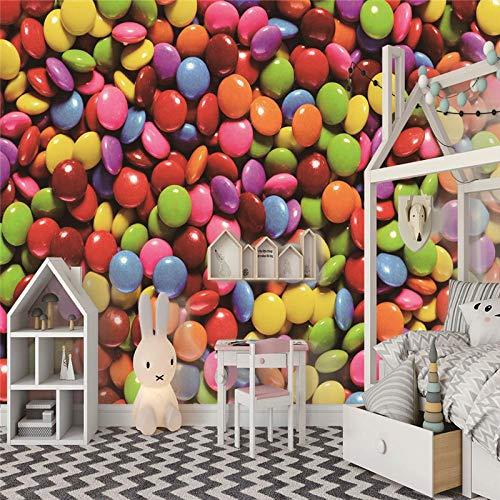 Fototapete Süßigkeiten 3D Tapete Vliestapete Moderne Wanddeko Design Tapete Wandtapete Wand Dekoratio Wohnzimmer TV Hintergrundwand - 250cm(W) x175cm(H) - 5 Stripes