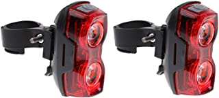 MagiDeal 2Pcs LED Super Bright Cycling Bicycle Bike Safe Rear Tail Light Lamp 3 Modes, Waterproof, 250 Degrees