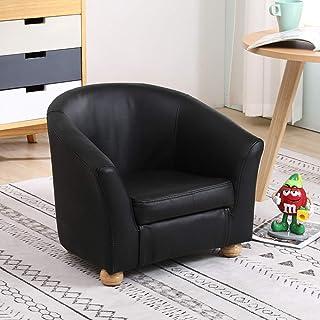 Fauteuil Enfants Fauteuil Enfant Chaise Fille Garçon En Cuir Véritable Fauteuils Rembourrés Canapé Pour Chambre Salle De J...