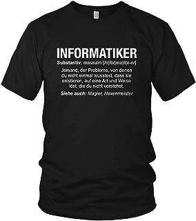 vanVerden Informatiker Shirt - Wikipedia Spruch Motto Motiv Berufe Geschenk für Programmierer - Herren T-Shirt und Männer Tshirt