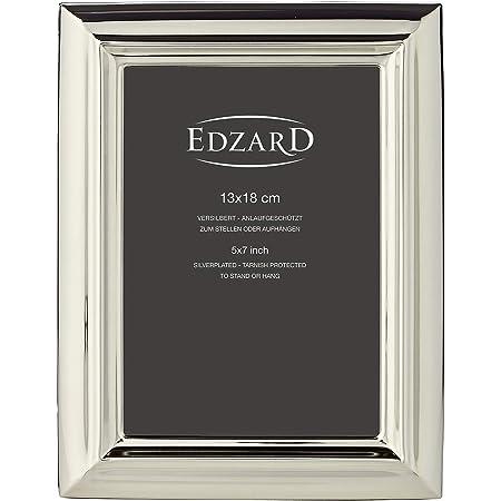 EDZAR Fotorahmen Positano für Foto 15x20cm Silber Bilderrahmen Bilder