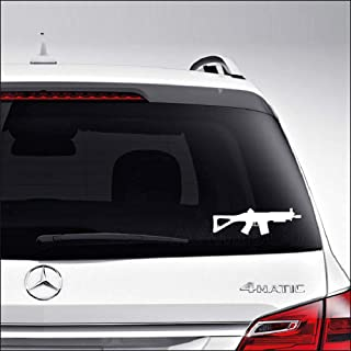 Aampco Decals JG Sig 552 Airsoft Gun Sports Car Truck Motorcycle Windows Bumper Wall Decor Vinyl Decal Sticker Size- [10 inch/25 cm] Wide/Color- Gloss Black