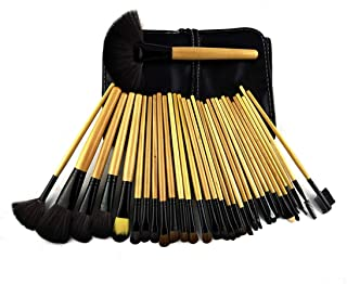 LUKEEXIN Professional Make-up Artist Makeup Set Brush 32 PCS Wood Color Makeup Brush (Color : Picture color)
