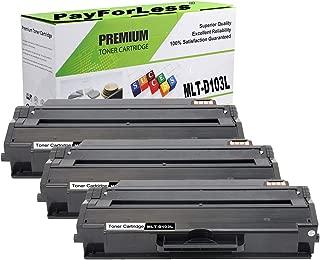 PayForLess Compatible Toner Cartridge MLT-D103L D103L Black 3PK for Samsung ML-2950 ML-2955dw ML-2955nd SCX-4729fw SCX-4729fd
