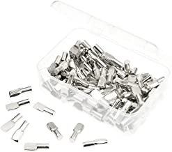 BIGTEDDY - 5mm Shelf Pegs 5mm Cabinet Furniture Shelve Support Divided tabs Pins Rest Nickel Plated Hardware (Pack of 120 with Box)