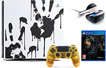 Newest Sony PlayStation 4 Pro 1TB Limited Edition Death Stranding Console Bundle W /PlayStation VR Core Headset