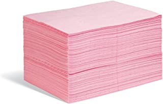 New Pig Hazmat Mat Pad, 14 oz Absorbency Per Pad, Absorbs Hazardous Chemicals - Acids, Bases & Unknowns, Lightweight, 20
