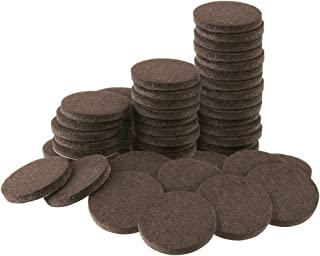 Soft Touch 4728695N 1 Inch, Brown, 48 Pack Heavy Duty Felt Furniture Pads-Protect Hardwood and Linoleum Floors frim Scratches, 48 Piece