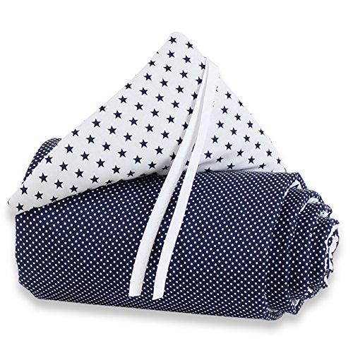 Babybay Tour de lit Organic Cotton pour Midi et Mini, marron clair étoiles Blanc