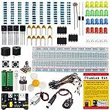 Starter Kit di componenti elettronici – Un kit completo per la creazione di circuiti elettronici sperimentali con basetta, alimentatore, resistenze, transistor, NE555, motore e molti altri componenti