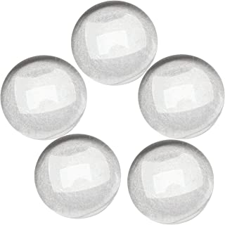 Dophee 200Pcs Crystal Clear Round Cabochon Flat Back Glass Dome Tile Jewellery Making,8mm