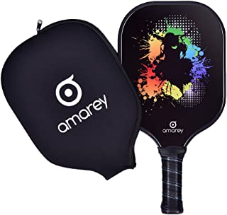Pickleball Paddle, Graphite Pickleball Racket With Polymer Honeycomb Composite Core Ultra Cushion 4.25In Grip