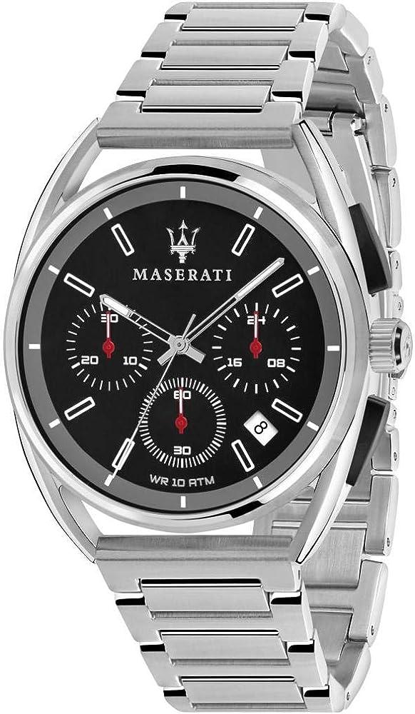 Maserati orologio cronografo da uomo, collezione trimarano in acciaio inossidabile 8033288820260