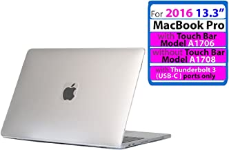 iPearl mCover Hard Shell Case for New 2016 13-inch Model A1706 / A1708 MacBook Pro (Clear)