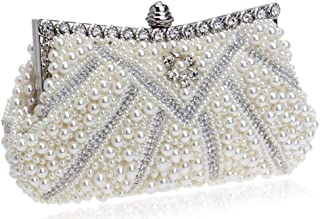 Estriana Handtasche mit Perleneinlage, Designer-Handtasche für Hochzeit, Abendveranstaltung, Party, handgefertigt, Handtas...