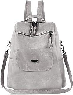 Damen-Rucksack, wasserdicht, diebstahlsicher, leicht, PU-Leder, Nylon, Schultertasche, Reiserucksack für Damen