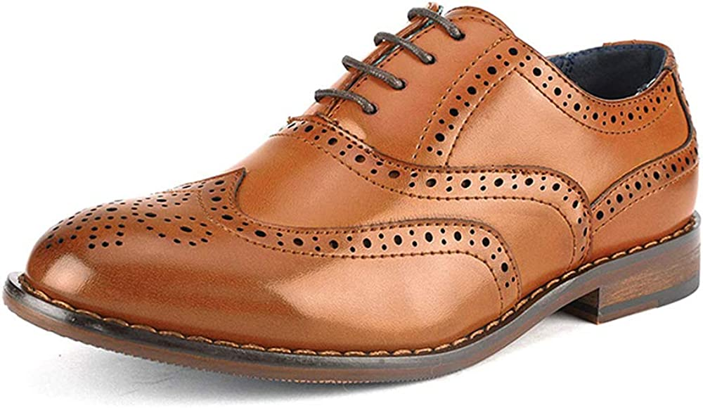 Bruno Marc Boy's High quality new Very popular Prince-K Shoes Classic Oxfords Dress