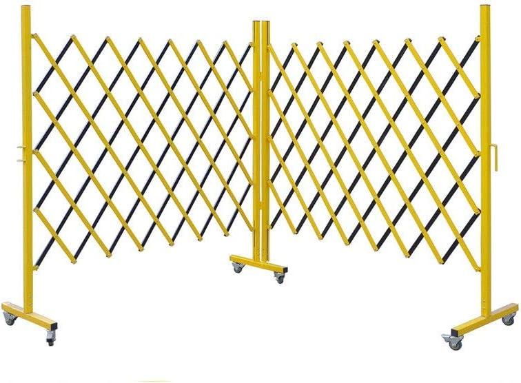 inChengGouFouX Cerca de Jardín Amarillo All Iron Wall Foldable Trellis Fence Expandable Mobile Barricada Portátil Herramientas Auxiliares (Color : Amarillo, Size : 3x1.35M)