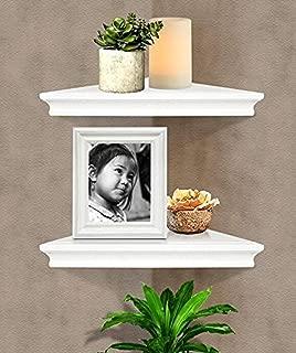 Best white wooden corner shelf Reviews