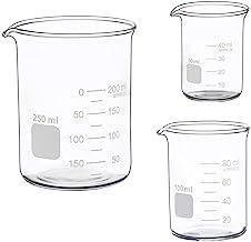 اندازه گیری شیشه ای بیکر پایین فرم 50ml 100ml 250ml Glass Becker Beaker Set