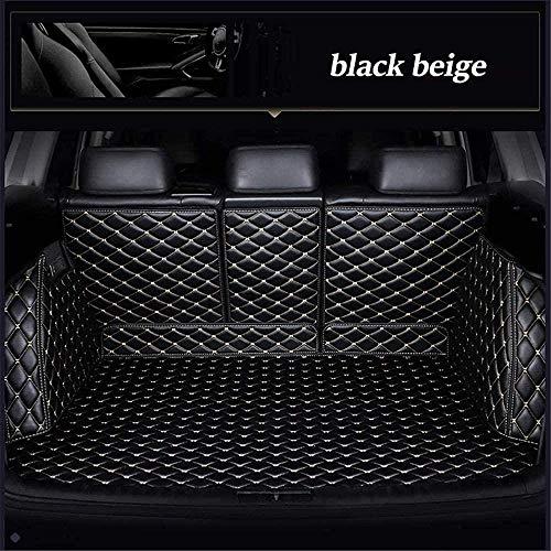 Kofferraummatte Kofferraumwanne für Mercedes Benz A180 A200 A260 A45 AMG 2013 2014 2015 2016 2017 2018 W176 Kofferraumschutz Autozubehör, Schwarz Beige