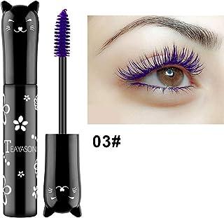 Murakush マスカラ ファイバー 防水 かわいい 猫 スタイル 4D 厚い カーリング 睫毛 アイメイクアップ 3 purple