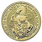 イギリス「一角獣・ユニコーン」クィーンズ ビースト 2018年製 24K 1/4 オンス 7.77グラム 純金 金貨 ゴールド コイン カプセル付き
