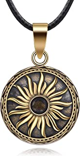 Harmony Vintage Style Creative Music Wishing Chime Ball Pendant Necklace for Women Ladies Best Jewellry Original Gift, 45inch
