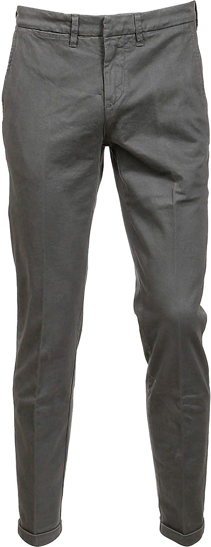 FAY Men's NTM8637187TQGGB406 Grey Cotton Pants